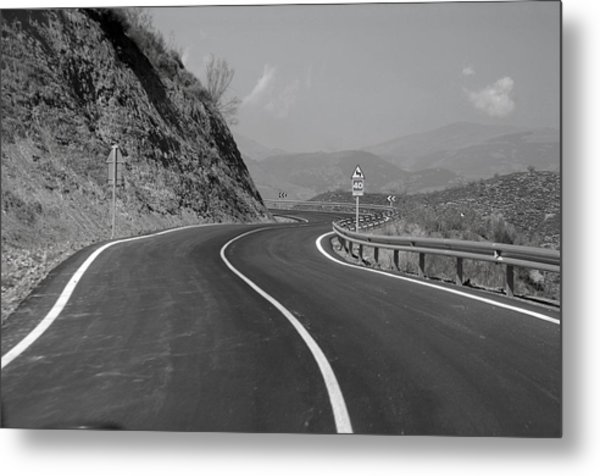 Road Out Metal Print by Jez C Self