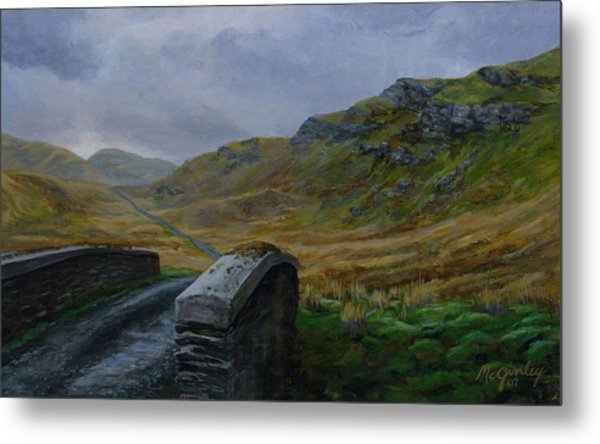 Road Over Donegal Bridge Metal Print