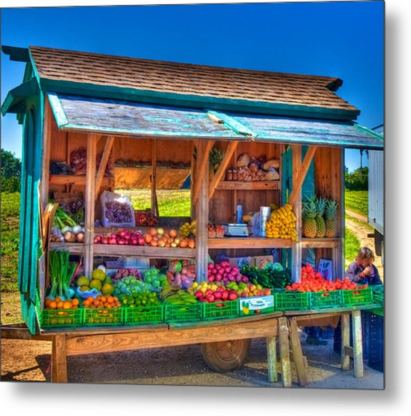 Road Side Fruit Stand Metal Print