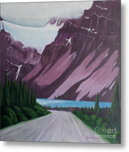 Road To Banff Metal Print