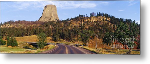 Road To Devils Tower Crossing Belle Fourche River Metal Print by Jeremy Woodhouse