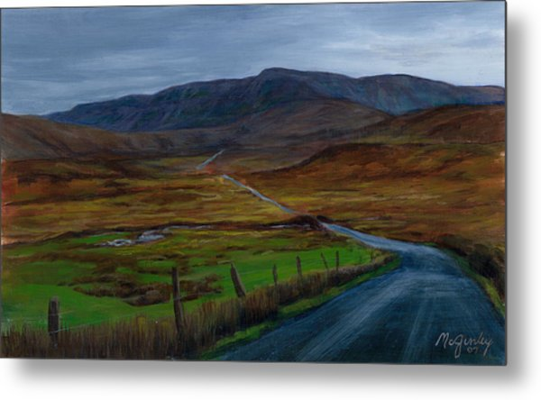 Road To Glenveagh Metal Print