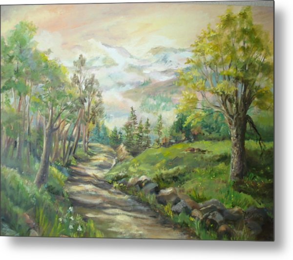 Road To Grandfather Mountain Metal Print by Marilyn Masters