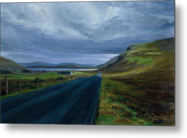 Road To Lough Barra Donegal Metal Print