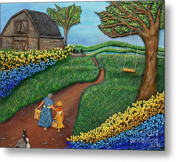 Road To Maple Metal Print