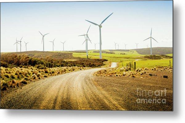 Road To Natural Energy Metal Print