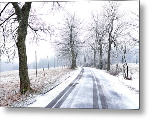 Metal Print featuring the photograph Road To Nowhere  by Dubi Roman