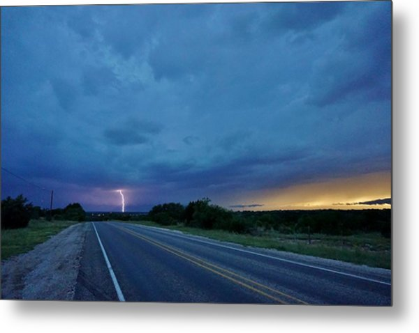 Lightning Over Sonora Metal Print