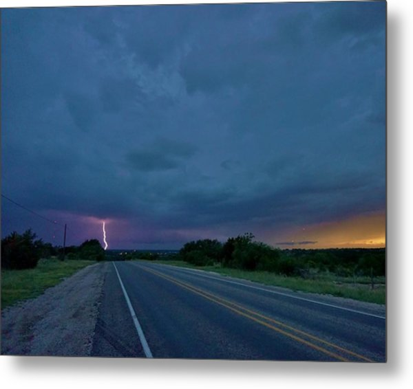 Road To The Storm Metal Print