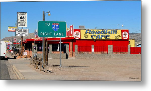 Roadkill Cafe, Route 66, Seligman Arizona Metal Print