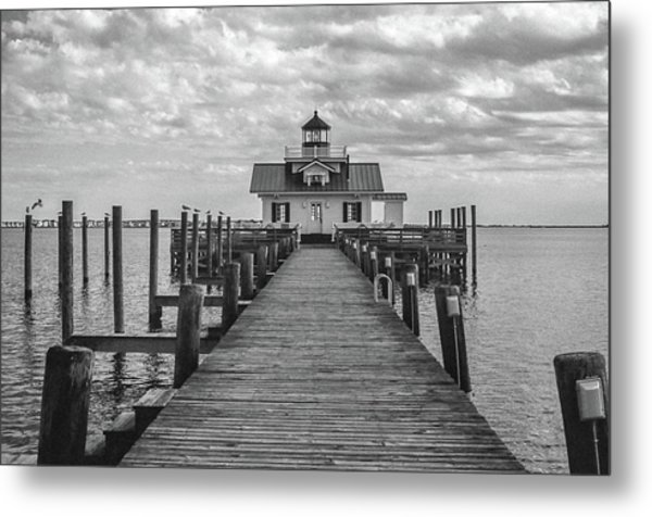 Metal Print featuring the photograph Roanoke Marshes Light by David Sutton