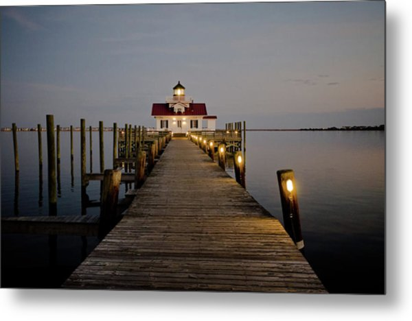 Metal Print featuring the photograph Roanoke Marshes Lighthouse by David Sutton