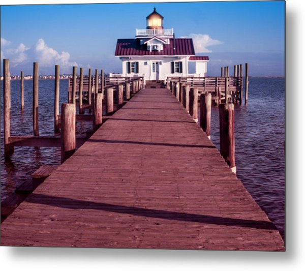 Metal Print featuring the photograph Roanoke Marshes Lighthouse by Penny Lisowski