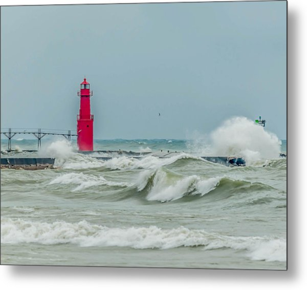 Roar From The Shore Metal Print