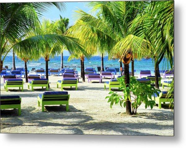 Roatan Island Resort Metal Print