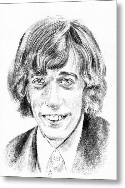 Robin Gibb Drawing Metal Print