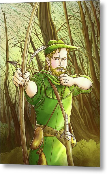 Robin  Hood In Sherwood Forest Metal Print