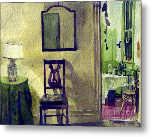 Robin's Chair Metal Print by Donald Maier