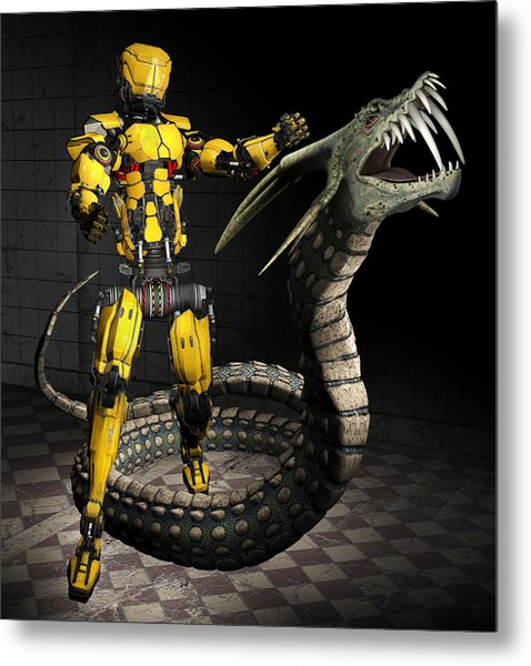 Robot Series 01 Metal Print