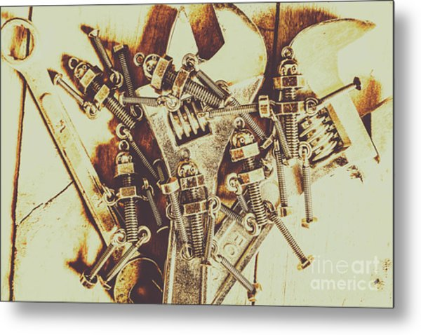 Robotic Repairs Metal Print