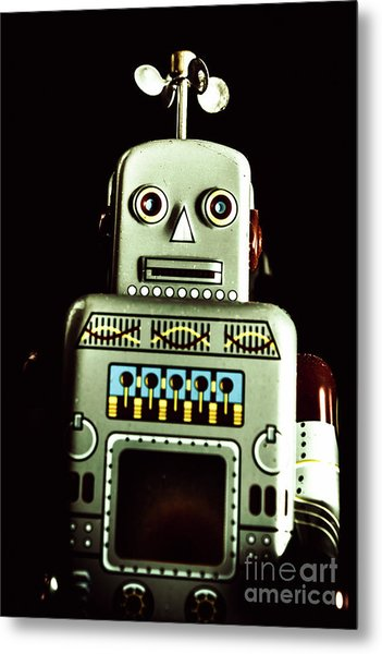 Robotic Spaceman Metal Print