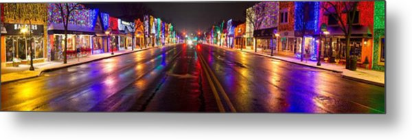 Rochester Christmas Light Display Metal Print by Twenty Two North Photography