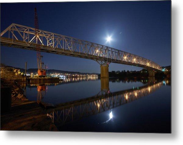 Rochester-monaca Bridge Metal Print by Thomas DiVittis