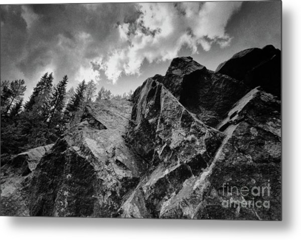 Rock #9542 Bw Version Metal Print
