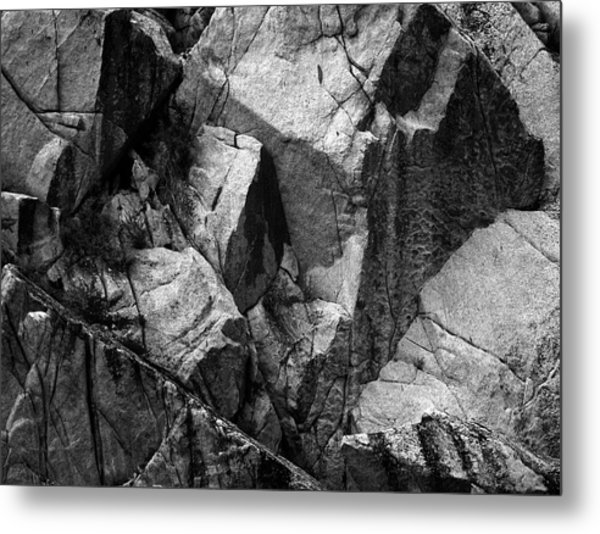 Rock Abstract Metal Print