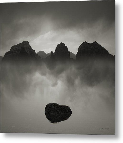 Rock And Peaks Metal Print
