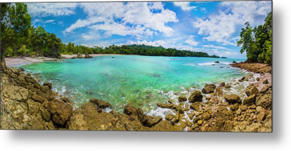 Metal Print featuring the photograph Rock Beach At Manuel Antonio National Park by Owen Weber