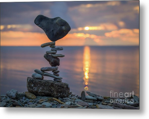 Rock Boarding Metal Print