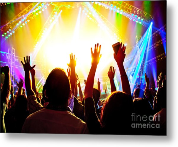 Rock Concert Metal Print by Anna Om