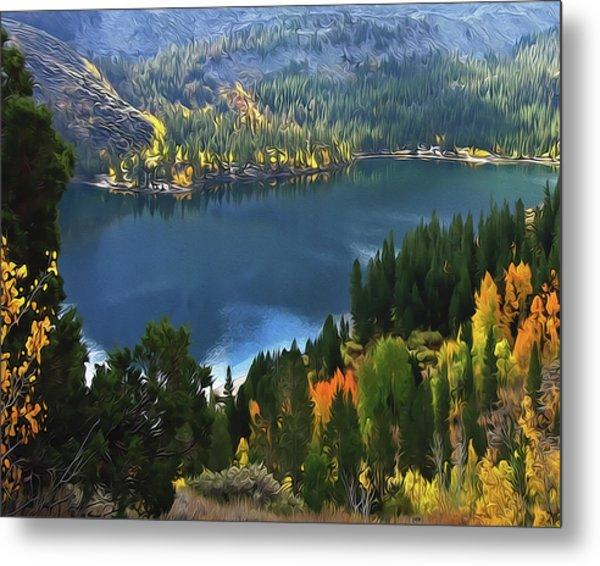 Rock Creek Lake In Fall Metal Print