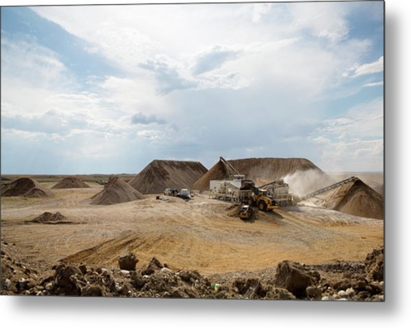 Metal Print featuring the photograph Rock Crushing 2 by David Buhler
