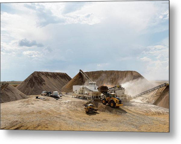 Metal Print featuring the photograph Rock Crushing by David Buhler