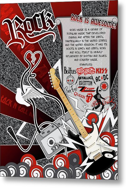 Rock Metal Print by Devin Green