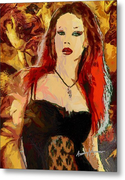 Rock Diva Metal Print by Anthony Caruso