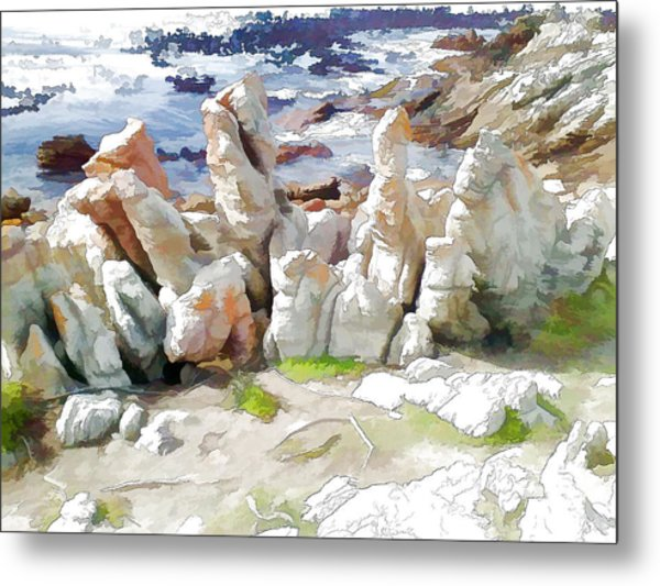 Rock Formation Bettys Bay Metal Print by Jan Hattingh