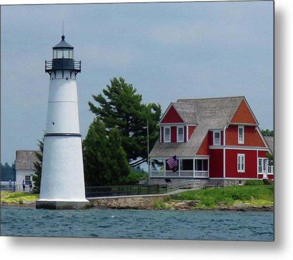 Rock Island Lighthouse July Metal Print