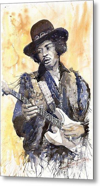 Rock Jimi Hendrix 02 Metal Print