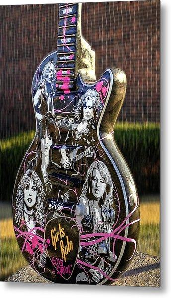 Rock N Roll...girls Rule Metal Print