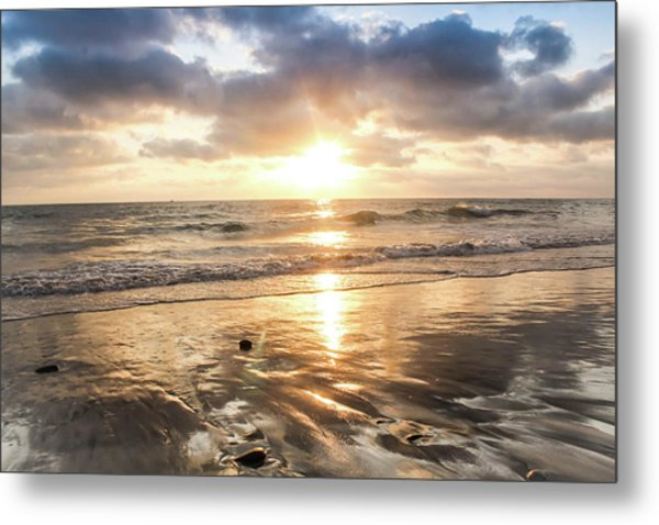 Metal Print featuring the photograph Rock 'n Sunset by Alison Frank