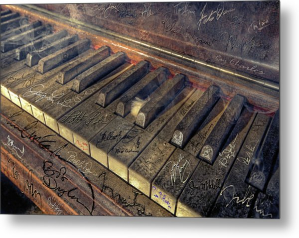 Rock Piano Fantasy Metal Print