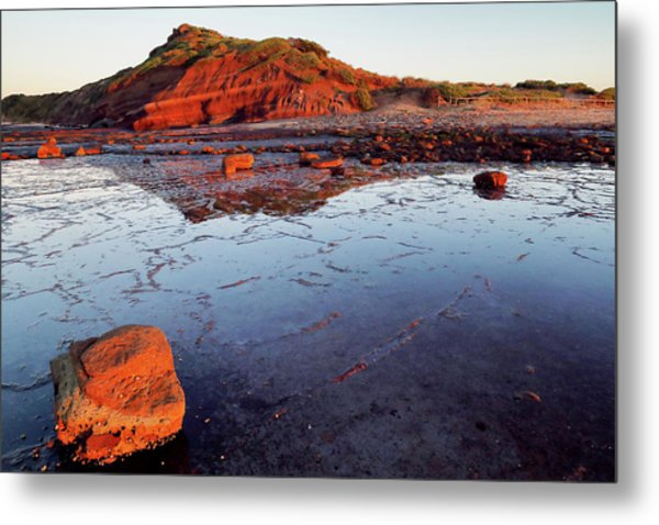 Metal Print featuring the photograph Rock Shelf At Long Reef 1 by Nicholas Blackwell