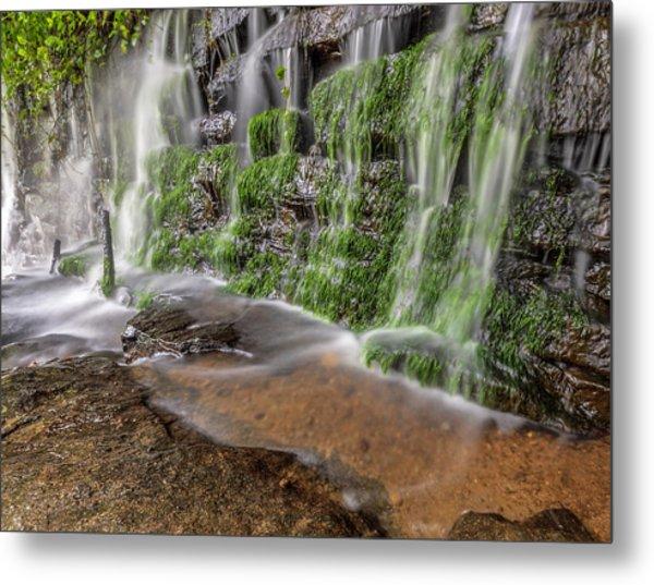 Rock Wall Waterfall Metal Print