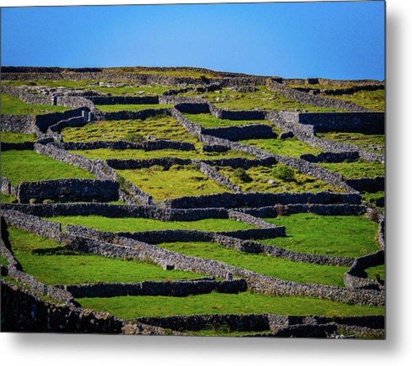 Metal Print featuring the photograph Rock Walls Of Inisheer, Aran Islands by James Truett