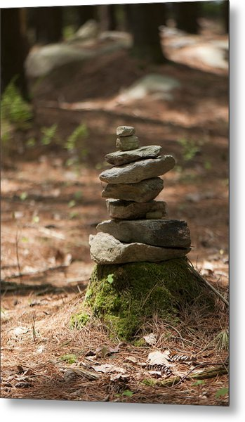 Rock Yoga Metal Print