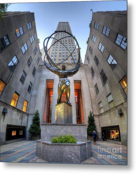 Rockefeller Centre Atlas - Nyc - Vertorama Metal Print