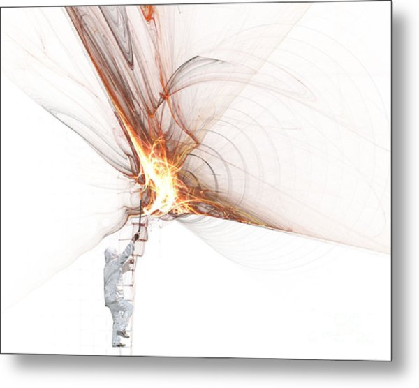 Rocket Propulsion Ignition Metal Print
